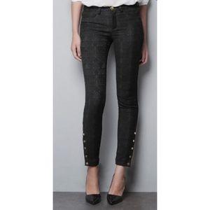 Zara trafaluc textured black skinny pants  size 4